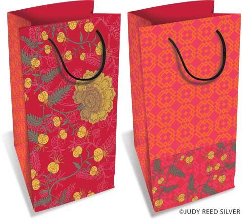 2 more red-orange bags